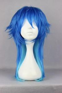 Image 1 - Dramatical Murder DMMD Seragaki Aoba Wig Ombre Blue Heat Resistant Synthetic Hair Cosplay Wigs + Wig Cap