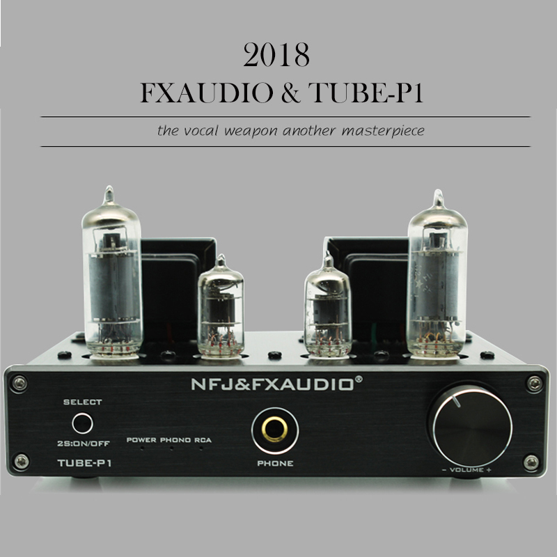 Fx-Audio TUBE-P1 Hi fi Preamp Tube Amplifier Class A Portable Vacuum Tube Amp Audio Vinyl Record Player Amplifier Tube 2016 brand new appj pa1601a 6j1 6p4 hifi wifi vacuum tube amplifier desktop digital audio tube amp hi fi lossless music player