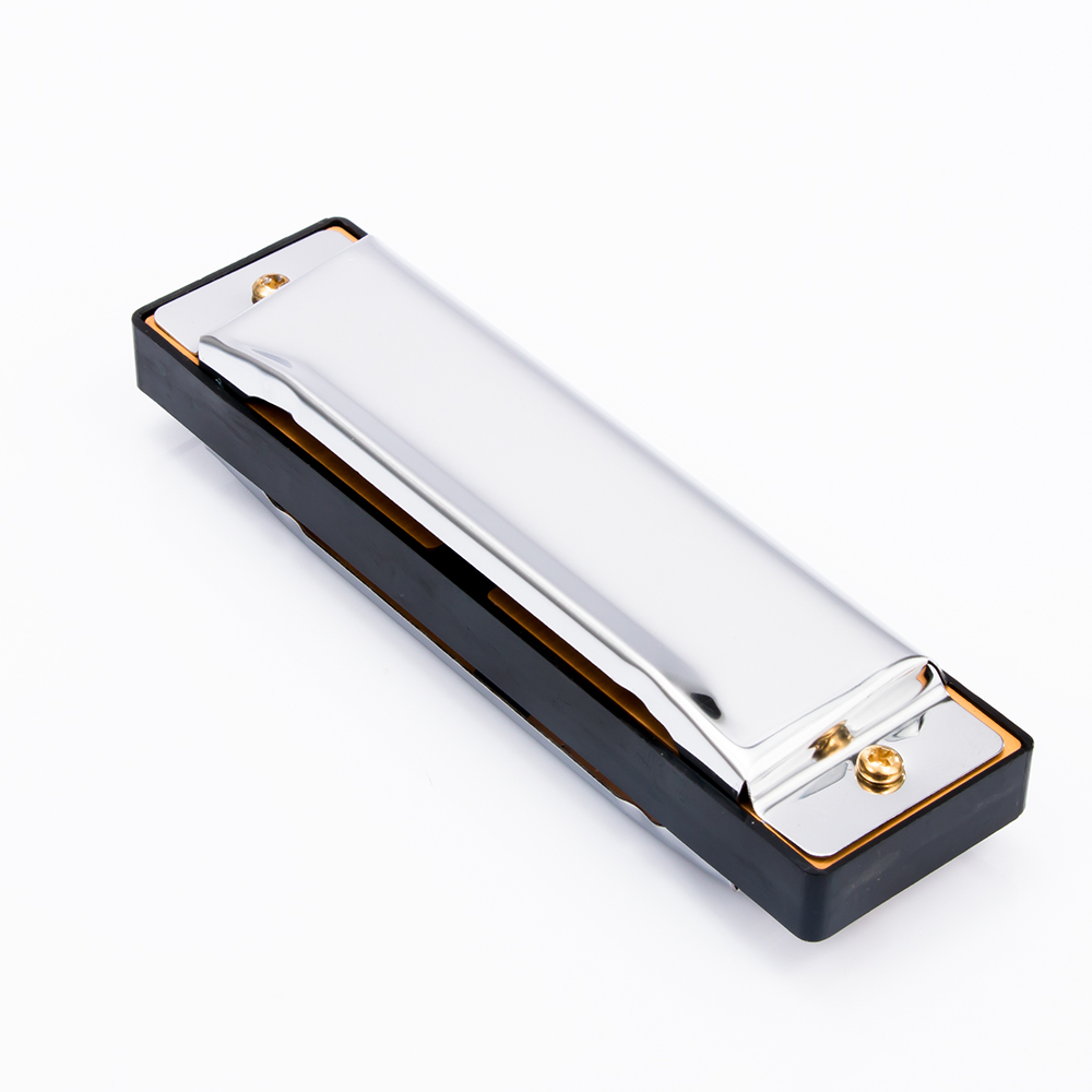 1Pc Kids Adults Blues Harmonica Musical Instrument Stainless Steel Diatonic Harmonica 10 Holes Key Of C Toy With Case