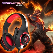 Best Buy New gaming headphones for a mobile phone PS4/PSP/PC 3.5mm Wired Headphone with Microphone LED Lamp Noise Canceling Earphone