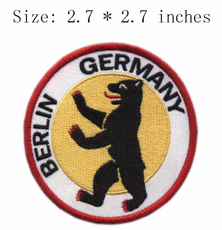 Berlin Germany German District Rock Music Band Embroidered Logo Iron
