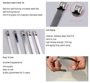 Image 3 - Металлический кабель из нержавеющей стали S201, 100 шт., ширина шнура 7,9 мм, ремешок на молнии, блокировка выхлопной трубы, штырь 150 мм 700 мм 400 мм 450 мм 500 мм