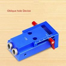 Mini Pocket Hole Jig Kit Wooden Link System 3 Step Drill Bit Slanted Wood Dowel Jig Tools Set LB88 mini kreg jig pocket hole jig kit system for wood working