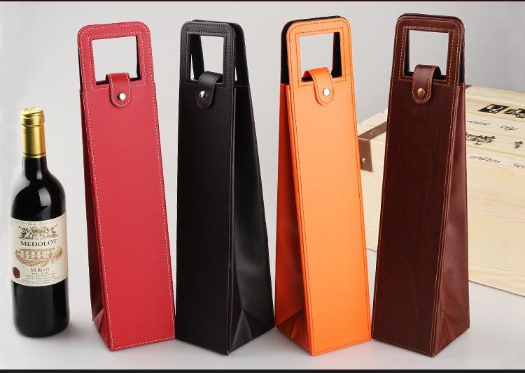 20 pcs/lot Rapide gratuite sacs à Vin de vin emballage cadeau boîtes Rouge vin seulement en cuir boîte