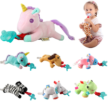 24 animal selection Baby Boy Girl Dummy Pacifier Chain Clip Plush Animal Toys Soother Nipples Holder (not include Pacifier)
