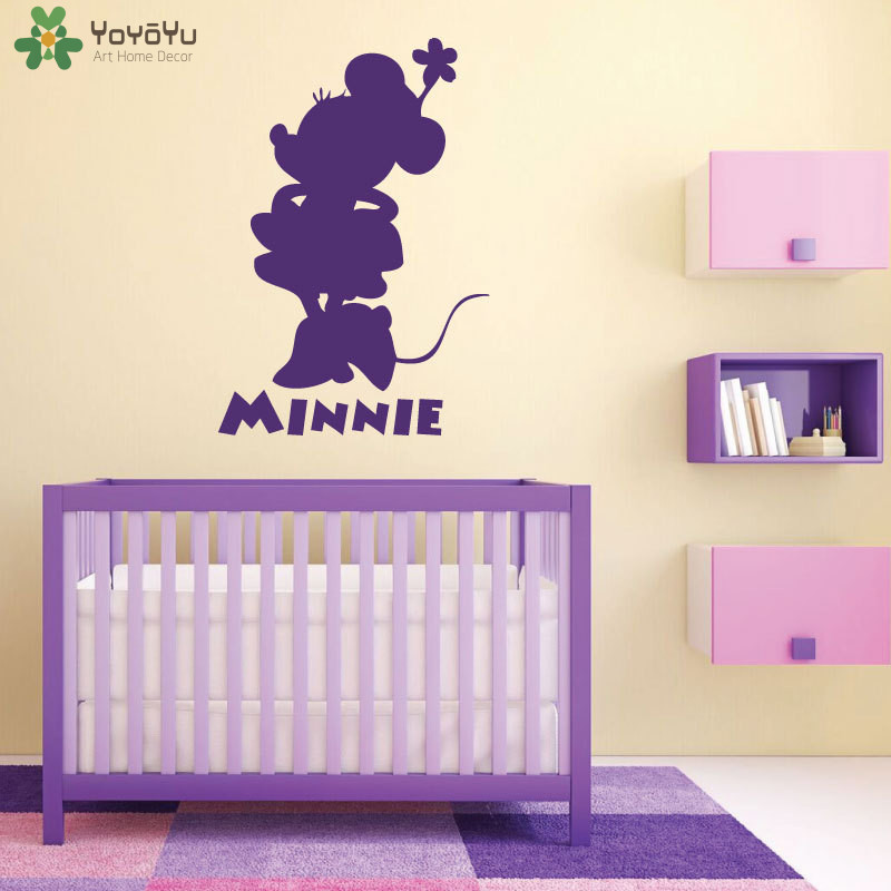 Online Shop YOYOYU Cartoon Animal Wall Stickers For Kids Rooms Minnie Mouse  Wall Decal Play Room Personalized Name Home Decor Girls DIYSY505 |  Aliexpress ... Part 54