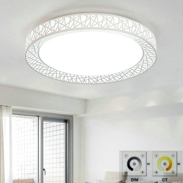 Fernbedienung LED Runde Deckenleuchten Aufbau Moderne Fr Wohnzimmer Leuchte Innenbeleuchtung Dekorative Lampenschirm