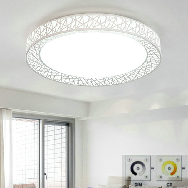 Remote Control LED Round Ceiling lights surface mounted modern for living room fixture indoor lighting decorative lampshade