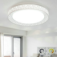 Remote Control LED Round Ceiling Lights Surface Mounted Modern For Living Room Fixture Indoor Lighting Decorative