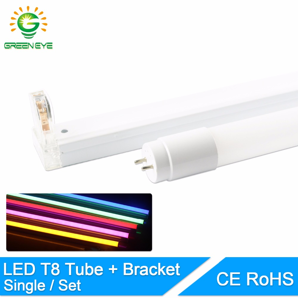 GreenEye 1set/single LED <font><b>Tube</b></font> <font><b>T8</b></font> / Folding Fixtures <font><b>Bracket</b></font> / 10w 60cm 2Feet 220v Fluorescent Light <font><b>Tube</b></font> Lamp 600mm <font><b>T8</b></font> Lighting image