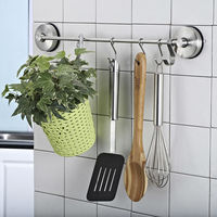 TISION Vacuum Strong Suction Cup for glass Kitchen S Hook Hanging Door Metal Bathroom Wall Sucker Robe Coat Clothes Key Hanger