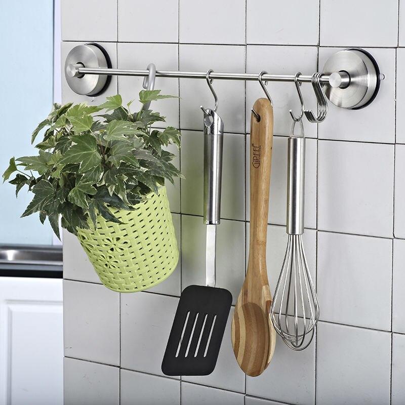 ग्लास रसोई के लिए TISION वैक्यूम मजबूत सक्शन कप रसोई हुक हुक दरवाजा धातु बाथरूम की दीवार चूसने वाला कोट कपड़े कुंजी हैंगर