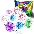 4 pçs/set Esponja Pincel de EVA das Crianças DIY Pintura Desenho Doodle Toy 10.5 cm Cor Aleatória