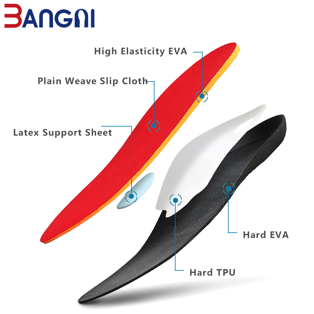 Image 5 - 3ANGNI Orthotic Shoe Insoles Arch Support Insert Orthopedic Moderate Flat Feet Heel Pain Plantar Fasciitis Men Woman Shoes SoleInsoles   -