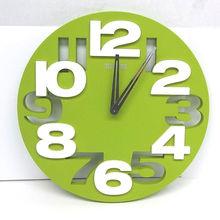 """Распродажа 3D вырезные Красочные Круглые 1"""" настенные часы зеленый/белый домашний декор креативные часы гостиной"""