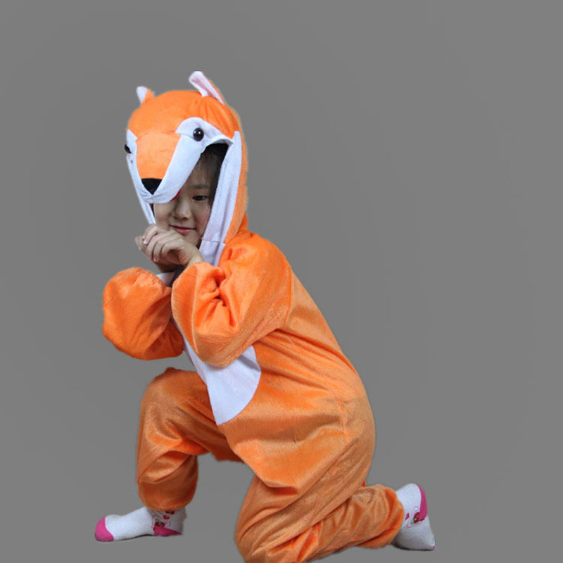 1 Set Children Animal Costumes Cartoon Animal Set Animal Siamese Clothes Lovely Lively Fox Clothing  TRQ1145 lole капри lsw1349 lively capris xs blue corn