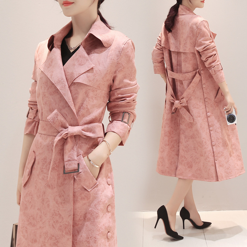 New Autumn womens jacket suede fabric jacket long trench maternity jacket outerwear pregnancy autumn clothing 16922