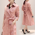 New Autumn women's jacket suede fabric jacket long trench maternity jacket outerwear pregnancy autumn clothing 16922