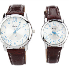 NARY Fashion Couple Watch musical symbols men s Personality High Quality Leather Strap Quartz Watch Female
