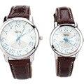 NARY Moda Relógio Casal símbolos musicais Personalidade dos homens de Alta Qualidade Pulseira de Couro Relógio de Quartzo Presentes Relógio Relogio Feminino