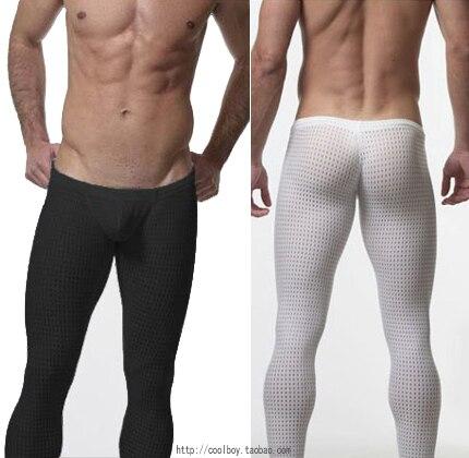 cbdc0790b55f2 Consmile underwear low-waist male long johns sexy mesh slim underwear bags  legging