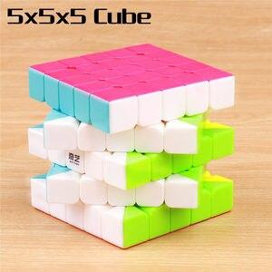 Image 5 - QIYI cube magique warrior 3x3x3 vitesses, cube puzzle professionnel sans autocollants, jouets éducatifs lisses, 4x4x4x5x5