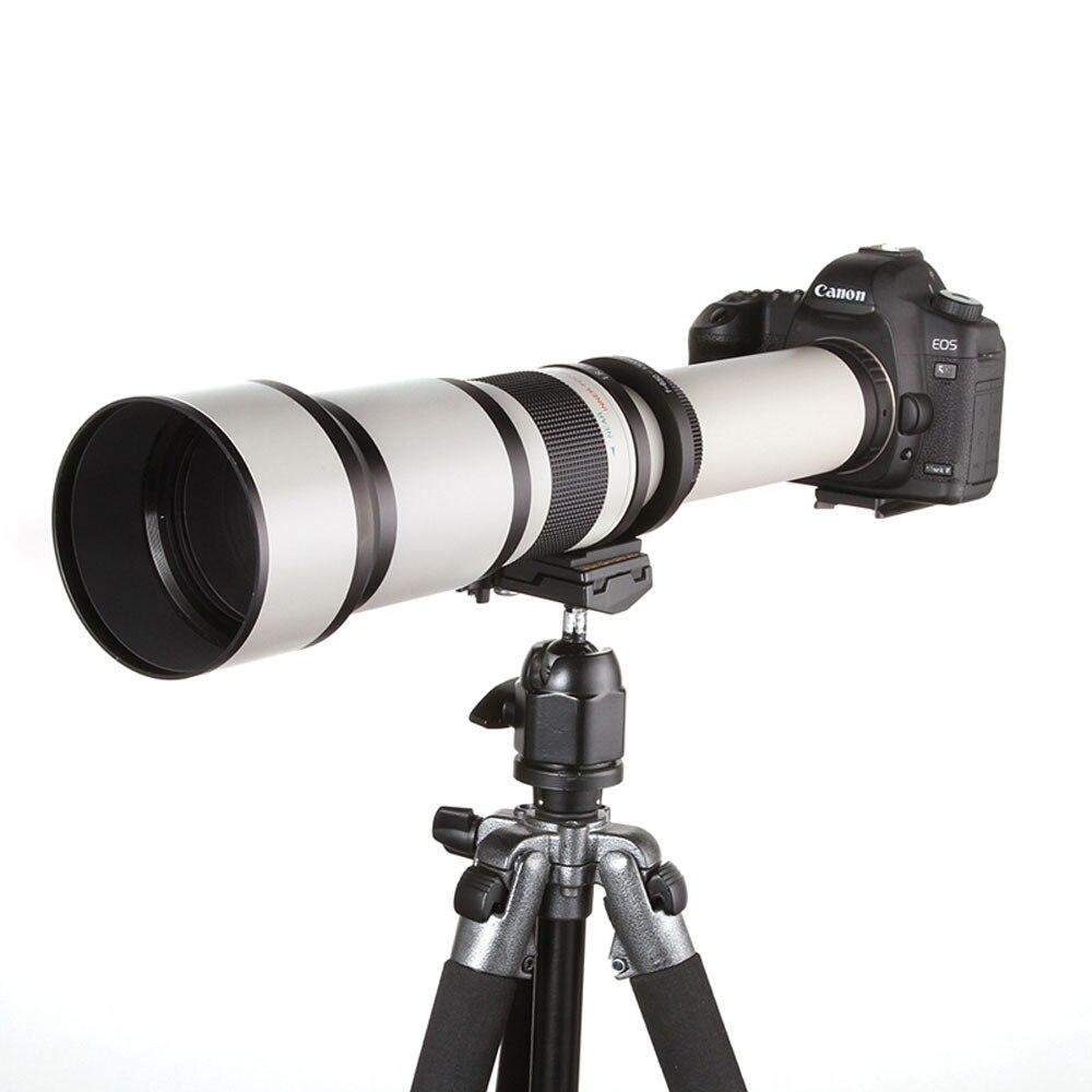 JINTU 500mm f/6.3 Téléobjectif Fixe Focale fixe + T2 Adaptateur pour Appareil Photo Canon EOS 1300D 1200D 1100D 60D 70D 80D 7D 750D 800D 5DII - 5
