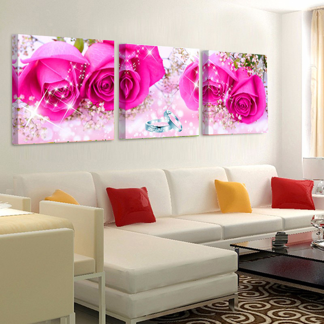 Decorative Pictures on the Wall Canvas Pictures for Living Room Pink ...