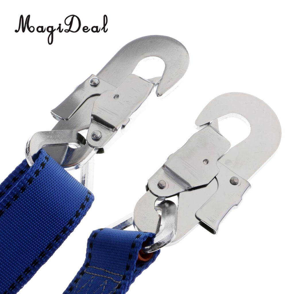 Safety Protection Adjustable Webbing Harness Lanyard for Rock Climbing 23KN
