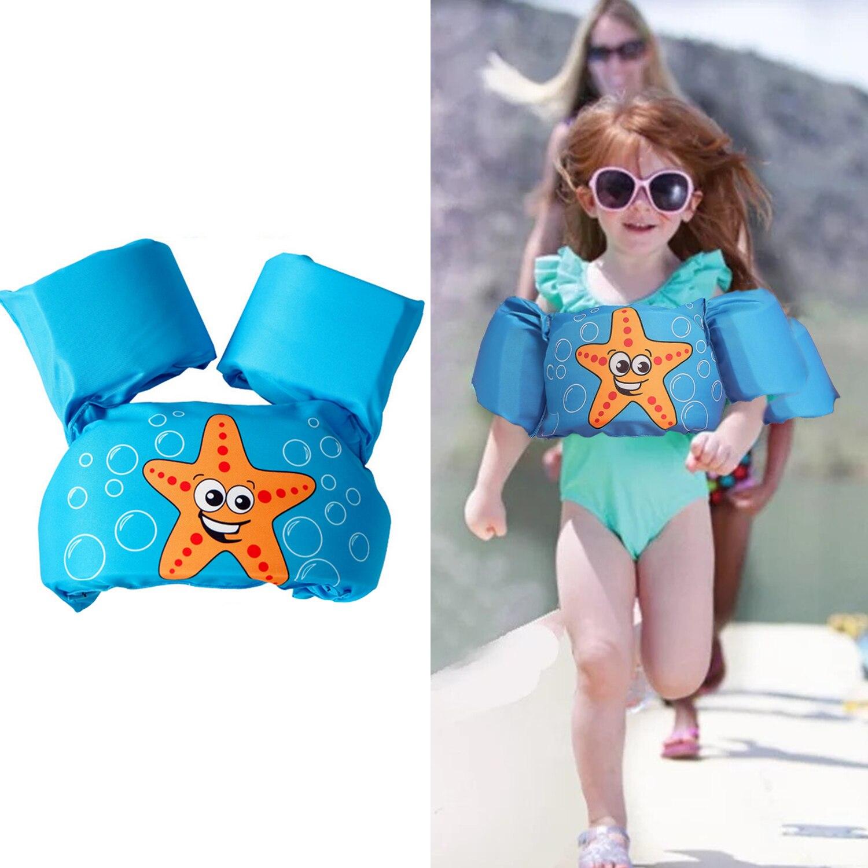 Cute Cartoon Kids Baby Jacket Vest Swimming Rings Floating Sleeves Arm Swim Ring Training Learning Swim Circle Pool Accessories