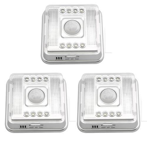 NFLC-3 X 8 LED Infravermelho Sensor De Movimento Branco