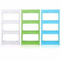 New Multifunctional Storage Shelf Movable Save Space Rack Multi Layer Standing Tool Kitchen Bathroom Holding Rack