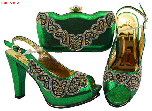 doershow GREEN Shoe and Bag Set African Shoe and Bag Set Italian Design High Quality Matching Shoes and Bag for parties HWD1-1doershow GREEN Shoe and Bag Set African Shoe and Bag Set Italian Design High Quality Matching Shoes and Bag for parties HWD1-1