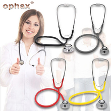 OPHAX Professional Medical Stethoscope For Family Dual Head Clinical Auscultation Household Health Monitor Device Health Care health care professional medical double dual head stethoscope double barreled functional high quality estetoscopio