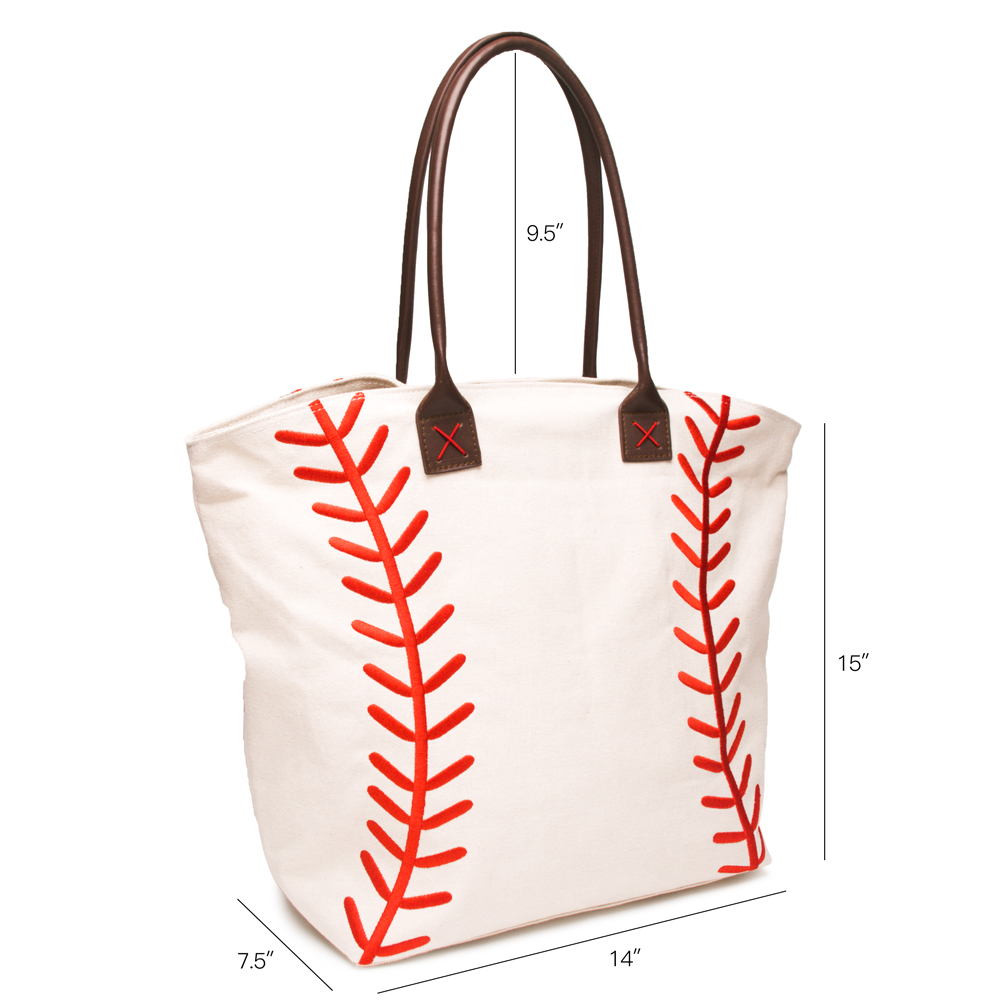 Embroidery Red Lace Base Ball Tote Wholesale Blanks New Design