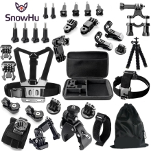 SnowHu Sport Camera Accessories Set Shockproof Carrying Case Mount for Gopro Hero 7 6 5 Eken h9 Yi 4K Black Edition GS20