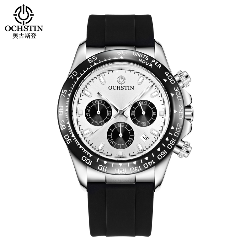 OCHSTIN Mens Watches Top Brand Luxury Fashion Casual Quartz Watch Men Military Sport Silicone Wristwatch Relogio Masculino mens watch top luxury brand fashion hollow clock male casual sport wristwatch men pirate skull style quartz watch reloj homber