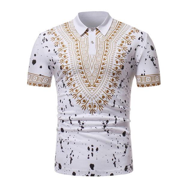 Africa Dashiki Mens Polo Shirt 2018 Brand New Short Sleeve Polo Homme Casual Short Sleeve Male Polo Shirts Breathable Polos XXL