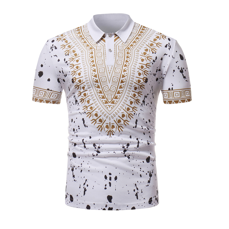 Africa Dashiki Mens   Polo   Shirt 2018 Brand New Short Sleeve   Polo   Homme Casual Short Sleeve Male   Polo   Shirts Breathable   Polos   XXL