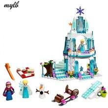 mylb 316pcs Dream Princess Elsa's Ice Castle Princess Anna Olaf Set Model Building Blocks Gifts Toys Compatible Friends