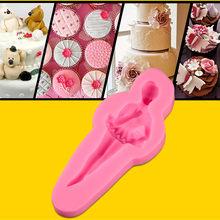 Recién llegado moldes de fondant en forma de chica de ballet, al por mayor herramientas de fondant moldes de silicona fondant para decoraciones de pasteles
