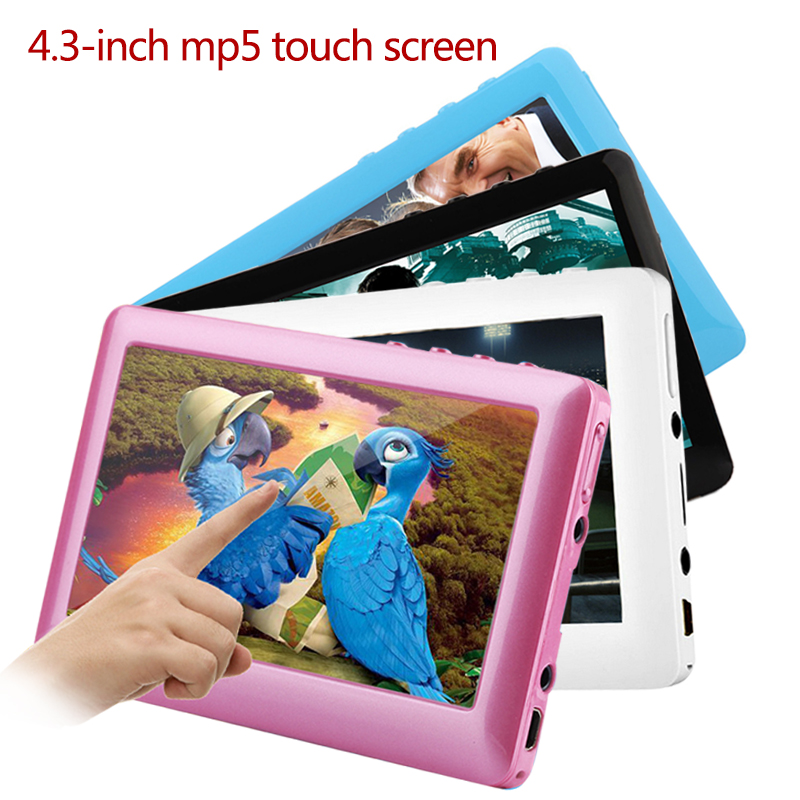 "HD Touch Screen 8GB 4.3"" Mp4 MP5 Video Player Build-in Speaker TV outpu MP3 MP4 Music Player FM Radio Recorder E-book Reader"