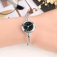 Women Watch Creative No Buckle Bracelets Bangles Band Quartz Wristwatch Slim Casual Black Dial Ladies Novel Sport Clock 2018 Bracelet Watches