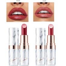 9 Colors Sexy Marble Velvet Matte Lipstick Long Lasting Red Pink Moisturizing Lip