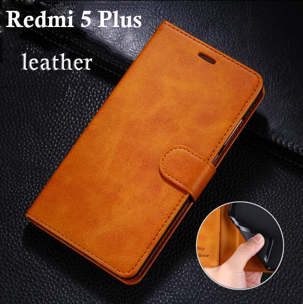"Xiaomi Redmi 5 Case 5.7 inch Flip Wallet Leather Soft Silicon Cover Xiaomi Redmi 5 Plus Cases 5.99""  Original Genuine Mcoldata-in Flip Cases from Cellphones & Telecommunications"