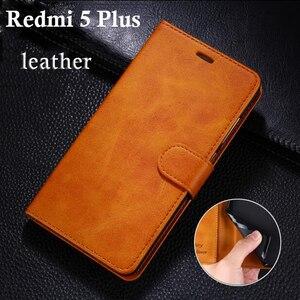 """Image 1 - Xiaomi Redmi 5 Case 5.7 inch Flip Wallet Leather Soft Silicon Cover Xiaomi Redmi 5 Plus Cases 5.99""""  Original Genuine Mcoldata"""