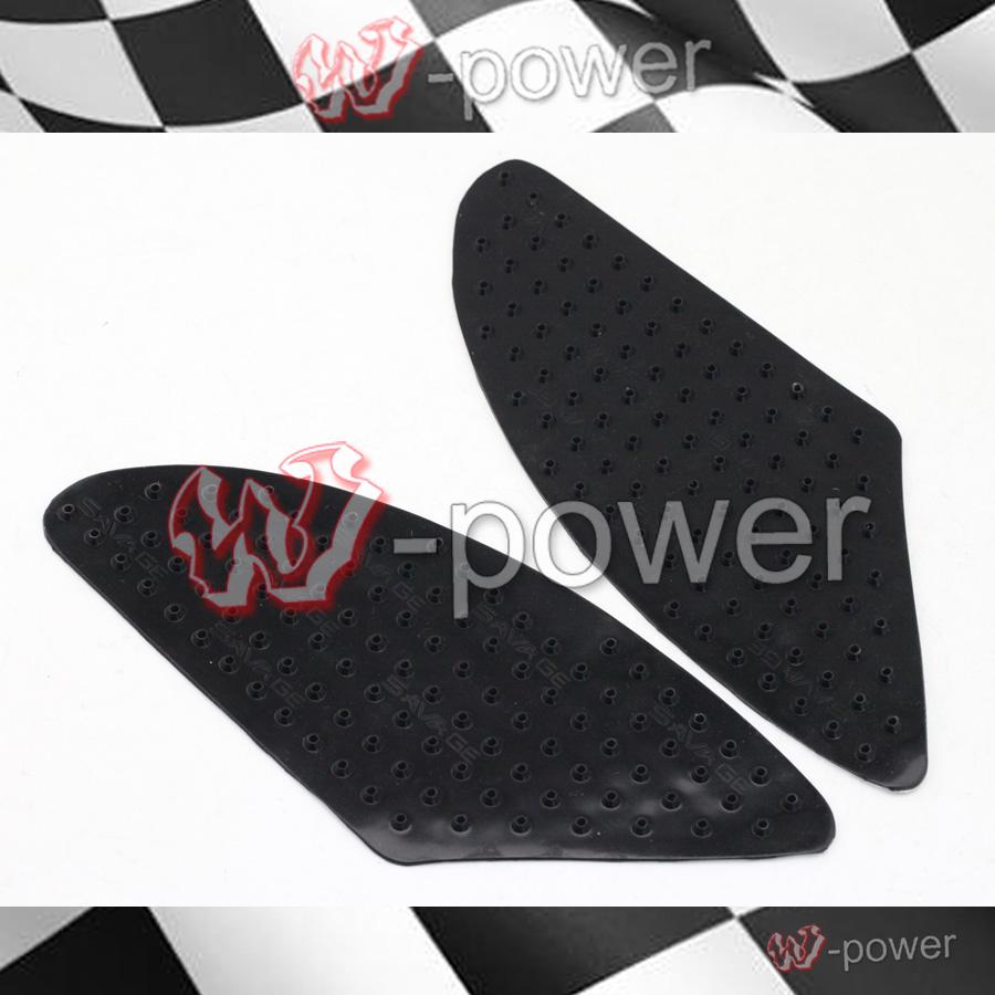 For KAWASAKI Z750 Z1000 2007 2008 2009 Motorcycle Tank Traction Pad Side Gas <font><b>Knee</b></font> Grip Protector Anti slip sticker 3M Black