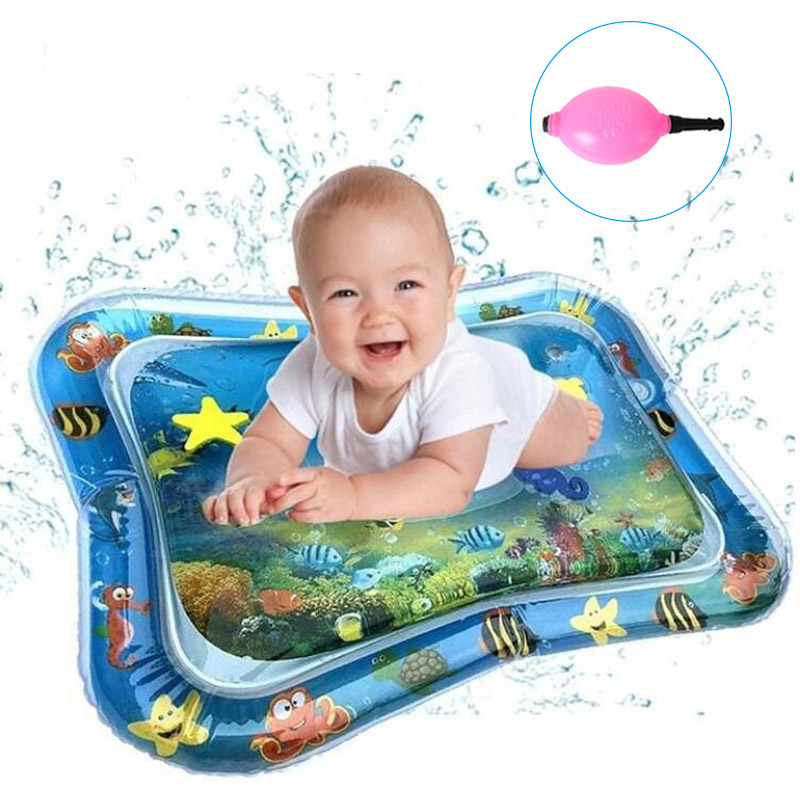 Baby Water Play Mat Baby Kids Happy Water Play Mat Inflatable Water Cushion Infant Toys Seaworld Activity Carpet
