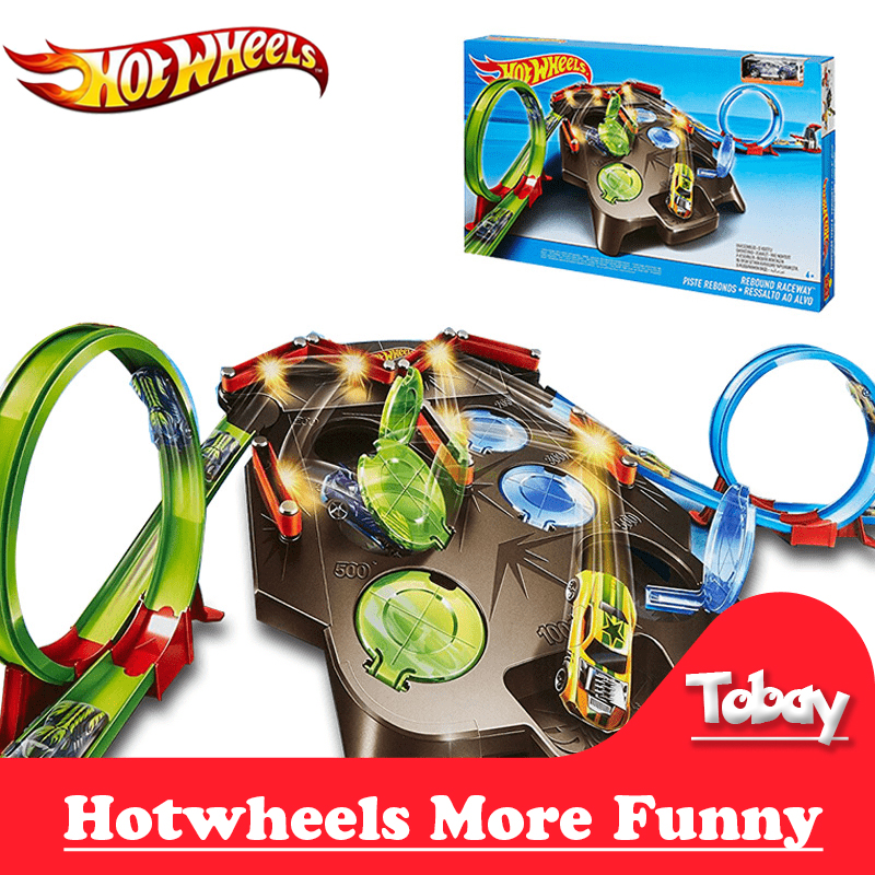 Hotwheels Rebound Raceway Play Set Plastic Track Matel Car Racing Score Winner Two Track Carro de brinquedo FDF27 Cars Toy иродов и физика макросистем основные законы