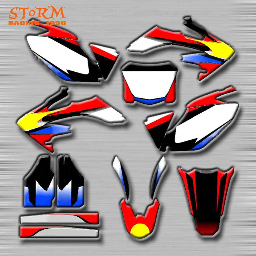Decals Graphics With Matching Backgounds Customize Stickers Kits For HONDA CRF250R CR250R CR500R CRF250X CRF250L CRF XR CR цена